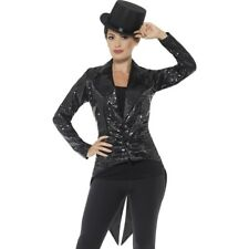 16a439488ee Smiffys Ladies Sequin Tailcoat Jacket Size S Carnival 46959
