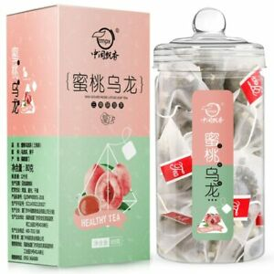 20 pcs Chinese Oolong Teabags with Juicy Peach Tea Bag with Fruity Floral Scent