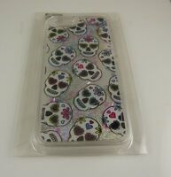 fits iPhone 6 cel phone case cool day of dead skulls glitter gel moves halloween