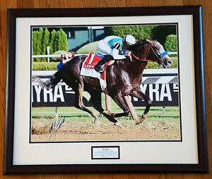 Arrogate Travers Stakes 16x20 Photo framed Signed Mike Smith New!