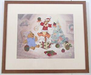 Disney Framed Sericel Serigraphy Winnie The Pooh Gift Of Friendship Ltd Ed 2000