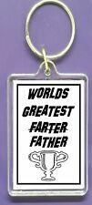 KEYRING FUNNY Humorous Key Ring Raise a Laugh Joke Perfect Gift fathers Day DAD
