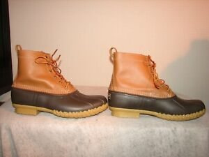 LL Bean Tex Men Duck Hunting Waterproof Hunting / Work Boots 14 W Made in USA