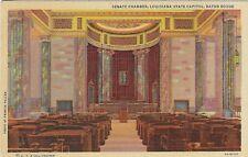 Vintage Louisiana Linen Postcard Baton Rouge Senate Chamber State Capitol