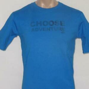 The North Face Youth XL 16-20 Boys UPF Choose Adventure Mountain Blue Shirt
