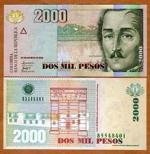 Colombia, 2000 (2,000) Pesos, 2008, P-457, UNC