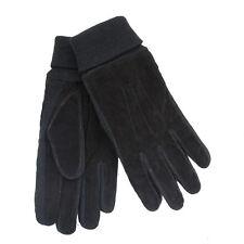 GL397- Mens Tom Franks Black Suede Gloves 3 Sizes- Great Price!