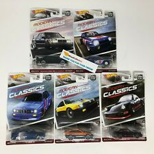 5 Car Set * Hot Wheels MODERN CLASSICS Car Culture G Case * A6