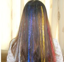 Sparkle Hair Tinsel Holographic Glitter Extensions Highlights False Hairstyling