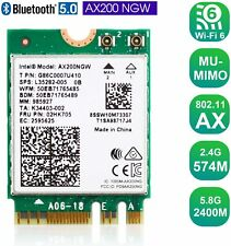3000Mbps Wireless Adapter WiFi Card For Intel AX200NGW NGFF 802.11ax with BT5.0