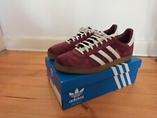 Adidas Gazelle Indoor Trainers Maroon/White/Gold US 11.5 MENS