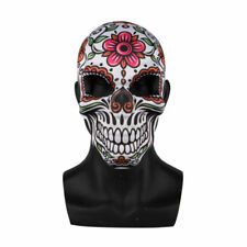 Day of the Dead Skull Mask Flowers Halloween Dia de los Muertos Skeleton Mask
