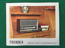 CATALOGO PHONOLA RADIO TV STEREO MANGIADISCHI (60s) con prezzi e schede tecniche