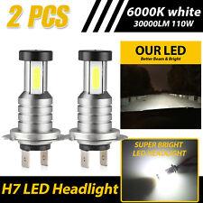 360 degree H7 COB LED Headlight Kit 110W 30000LM High Low Beam Bulbs 6000K White