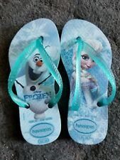 HAVAIANAS Disney Frozen Elsa Olaf Flip Flops Thong TODDLER GIRLS SZ 9C 25/26