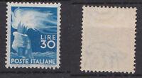 ITALY 1945 Democratica 30L. Mint *  Sc.488 (Sa.563)