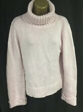Ladies Pink Jumper 18 16  Chunky Glitter Knitted Roll Neck Winter Work Sweater