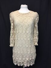 Juicy Couture Cream Lace Babydoll Dress Ivory Small Mint
