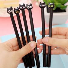 NEW 4pcs/set Emoji Black Cat Gel Ink Pen Stationery Office Supplies Korea Style