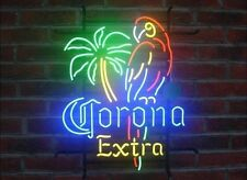 "New Corona Extra Parrot Palm Tree Beer Neon Sign 17""x14"""