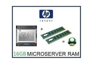 16GB -2x8GB DDR3 ECC Memory Ram Upgrade for HP / HPE ProLiant Gen8 Microserver