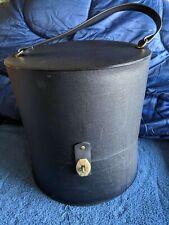 Vintage Everbest Of Hollywood Florida Hat Wig Box Travel Case - Black