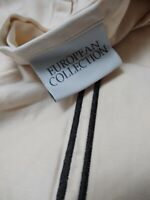 European Collection Cream Flat Sheet King Size Embroidery