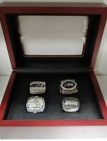 Seattle Seahawks - Championship Super Bowl 4 Ring Set WITH Wooden Box. Wilson