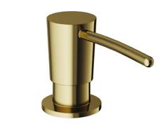 Vigo Built in Sink Soap or Lotion Dispenser for Kitchen Sink Brushed Gold