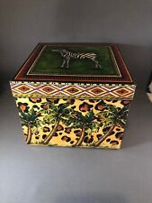 The Lindy Bowman Company Gift Box Zebra Palms Designed by Eileen Toohey 2001