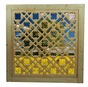 80x80 cm Afghan massiv holz Gitter oriental Maschrabiyya Jali wooden grid panel