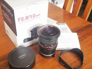 PRISTINE Samyang 12mm f/2.8 ED AS NCS Fish-eye (Sony E) Lens