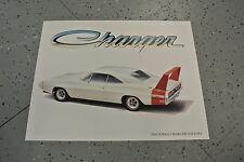 NOS 1969 Dodge Charger Daytona Art Picture Print Dealer Advertising MOPAR