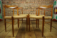 60er 4x Vintage Teak Stühle Danish Retro Bramin Esszimmer Stuhl H.W. Klein