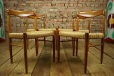 60er 4x Vintage Teak Chairs Danish Retro Bramin Dining Room Chair H. W. Small