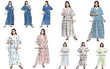 Indian Women's Wear Kaftan Cotton Plus Size Long Maxi Dress Robes Cotton Tunics