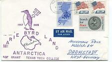 1967 Marrie Byrd Land NSF Grant Texas Tech College Polar Antarctica Cover SIGNED