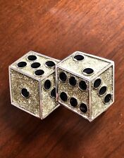 Gambling Dice Casino Lucky Gambler Glitter Metal Unisex Men's Belt Buckle