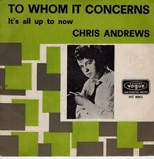7inch CHRIS ANDREWSto whom it concernsHOLLAND 1965 VG++   (S2589)