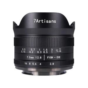 7artisans 7.5mm F2.8 Ver.II Manual Fisheye Lens Sony E A7C A72 A7R3 A1 a6000 A7S