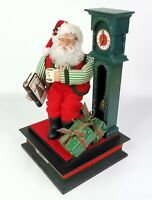 Holiday Creations Santa Claus Noel Having a Cup of Coco Plays Music 1993