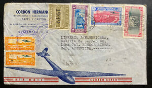 1939 Guatemala Airmail Cover To Pan American Books Store Buenos Aires Argentina