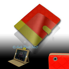 CASE COVER+SCREEN PROTECTOR POUCH PU LEATHER RED/YELLOW IPAD 2 2ND 3RD 4TH GEN