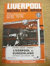 24/08/1968 Liverpool v Sunderland  . Thanks for viewing this item, buy with conf