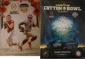 2015 ORANGE COTTON BOWL PROGRAMS CLEMSON ALABAMA COLLEGE FOOTBALL EA