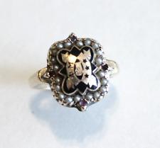 Phi Mu 14k Yellow Gold Seed Pearl Ring Size 5.5 RARE