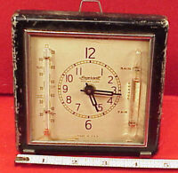RARE Vintage Ingersoll ALARM CLOCK THEROMOMETER HYDRGROMETER 1936 TICK A TOCK