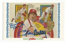 ROBIN ROBERTS STEVE CARLTON Signed 1983 Great Players card Philadelphia Phillies