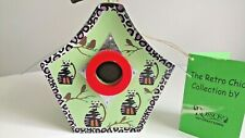 Birdhouse Cat ROSSO INTERNATIONAL Green Wild Retro Chic Steel Roof New