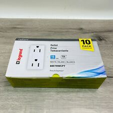 Pass & Seymour/Legrand 10 Pack, 15A, 125V, White, Radiant, Decorator Outlet-NEW